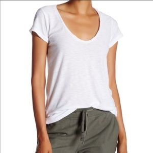 NWT standard James Perse white scoop neck T-shirt